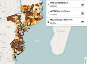 World Bank and AfDB aid flows to Mozambique