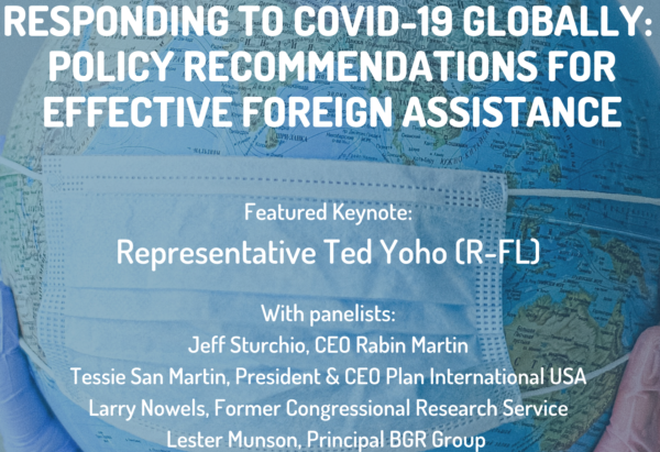 WATCH: Responding to COVID-19 Globally: Policy Recommendations for Effective Foreign Assistance